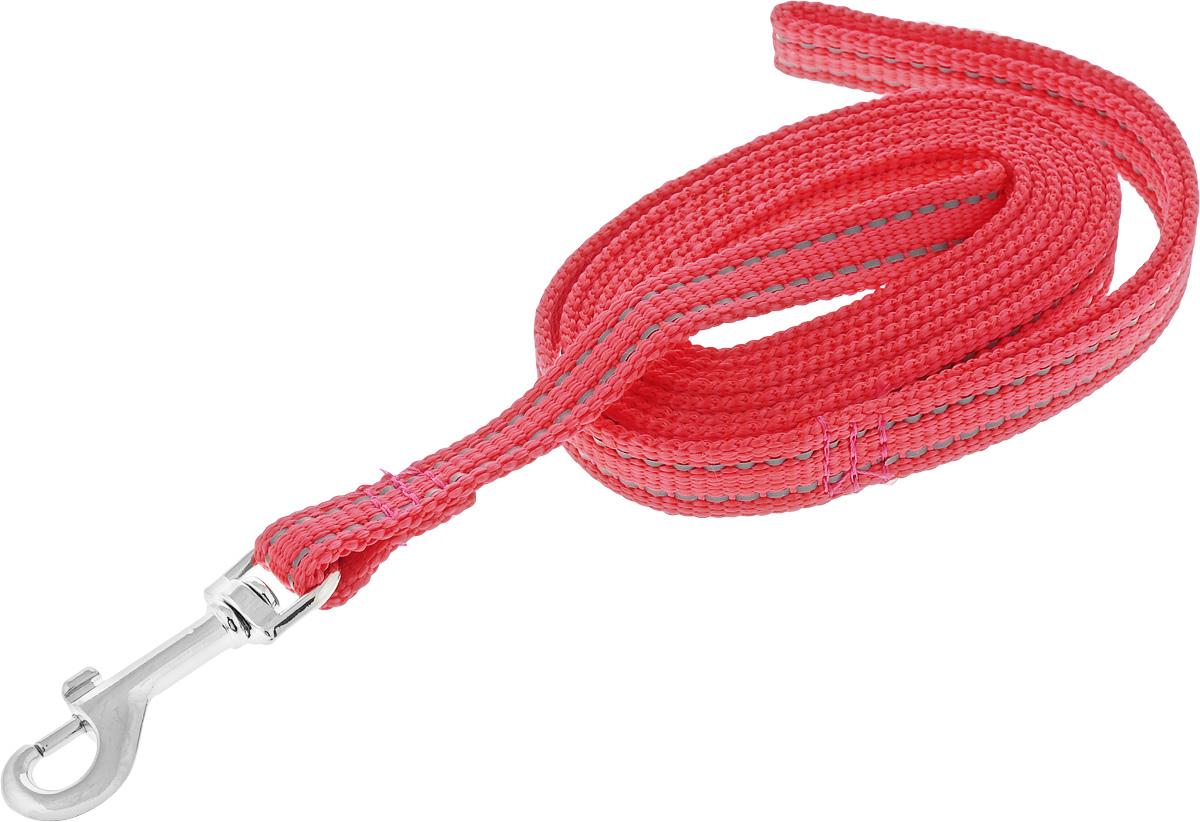 Поводок капроновый для собак Аркон, цвет: красный, ширина 1,5 см, длина 2 мпк2м15_красныйПоводок для собак Аркон изготовлен из высококачественного цветного капрона и снабжен металлическим карабином. Изделие отличается не только исключительной надежностью и удобством, но и привлекательным современным дизайном. Поводок - необходимый аксессуар для собаки. Ведь в опасных ситуациях именно он способен спасти жизнь вашему любимому питомцу. Иногда нужно ограничивать свободу своего четвероногого друга, чтобы защитить его или себя от неприятностей на прогулке. Длина поводка: 2 м. Ширина поводка: 1,5 см.