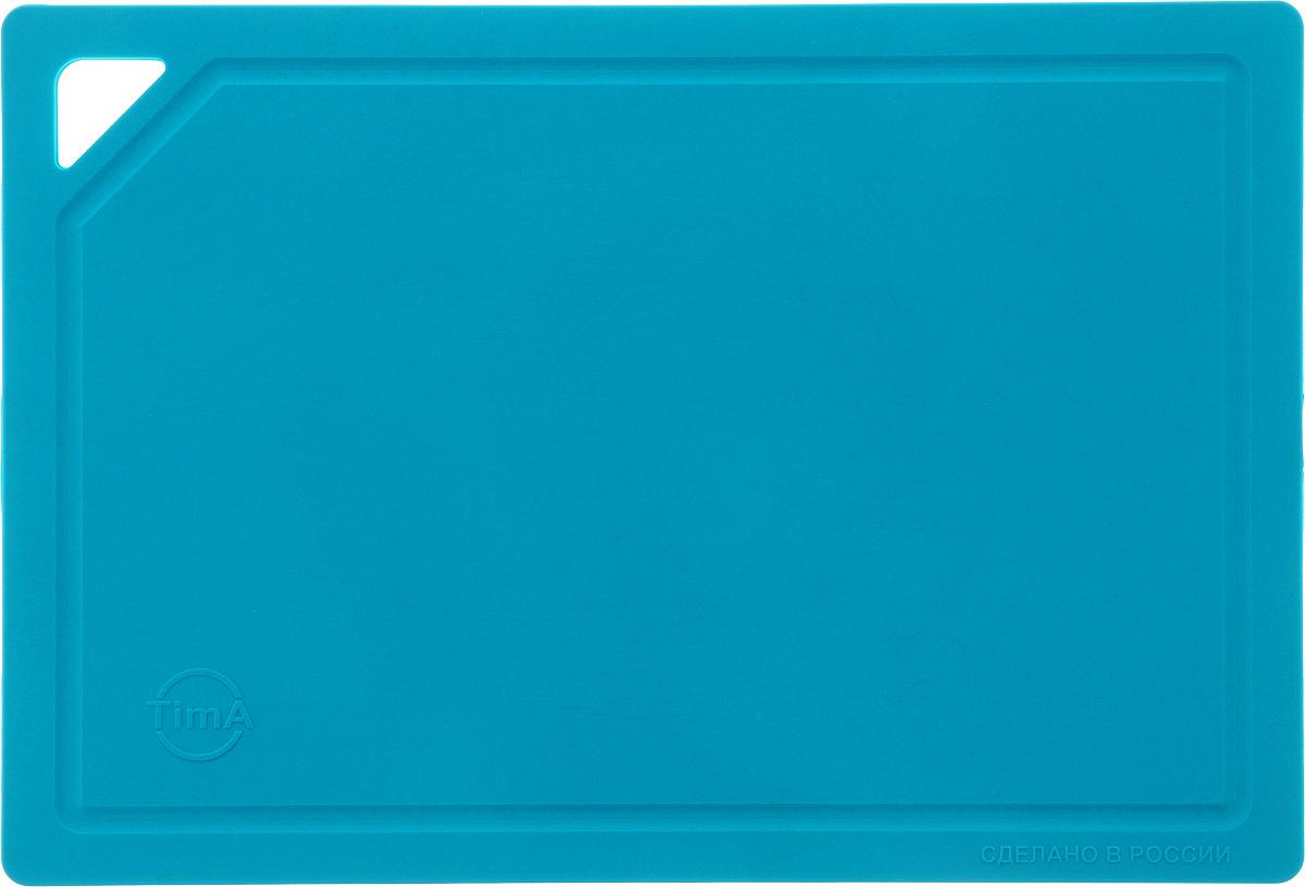 Доска разделочная TimA, гибкая, цвет: бирюзовый, 31 х 21 х 0,3 смДРГ 3022_бирюзовыйГибкая разделочная доска TimA изготовлена из полиуретана и обладает уникальными свойствами. Гигиенична. Не вступает в химическую реакцию с продуктами, не выделяет вредных веществ, предотвращает размножение болезнетворных микроорганизмов на поверхности доски. Безопасна. Доска плотно прилегает к любой поверхности стола или столешницы, не скользит. По краю проходит небольшой желоб, который предохраняет от растекания жидкости. Комфортна. Удобно высыпать нарезанные продукты даже в небольшую посуду, не уронив ни единого кусочка. Подходит для керамических ножей. Долговечна. Благодаря исключительным свойствам полиуретана, срок службы такой доски значительно выше, чем досок из дерева и пластика. Доски выпускаются в разных цветах, что позволяет использовать их для определенного вида продуктов. Зеленая - для овощей, красная - для мяса, синяя - для морепродуктов, желтая - для птицы, белая - для молочных продуктов. Простота в уходе. Благодаря...