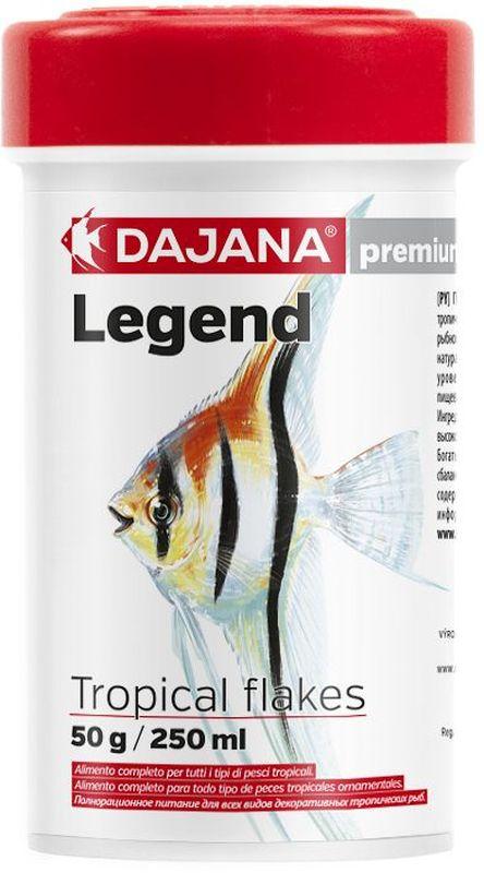 Корм для рыб Dajana Legend Tropical Flakes, 100 млDP016A1Полнорационный хлопьеобразный корм для всех видов декоративных тропических рыб. Корм Legend изготавливается по новой премиум-формуле, имититующей корм рыб в дикой природе, улучшает пищеварение укрепляет иммунную систему, помогает здоровой окраске рыб, снижает биологическую нагрузку в аквариуме.