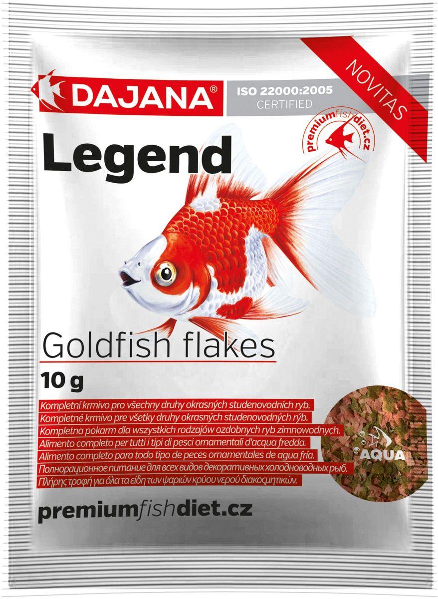 Корм для рыб Dajana Legend Goldfish Flakes, 80 млDP017S0Полнорационный хлопьеобразный корм для золотых рыбок. Корм Legend изготавливается по новой премиум-формуле, ими титующей корм рыб в дикой природе, улучшает пищеварение укрепляет иммунную систему, помогает здоровой окраске рыб, снижает биологическую нагрузку в аквариуме.