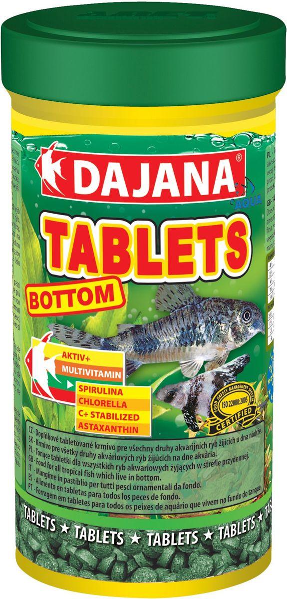 Корм для рыб Dajana Tablets Bottom, 250 млDP052BСпециальный корм в таблетках для рыб,обитающих на дне аквариумов. Корм содержит частицы дерева мопане, спирулину, которые улучшают процесс пищеварения и метаболизма в организме рыбы.