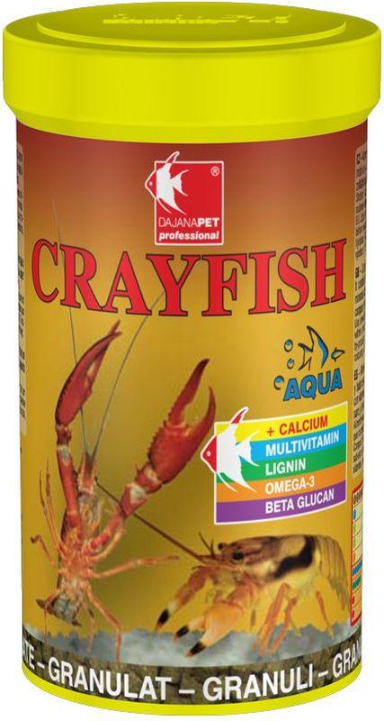 Корм для раков Dajana Crayfish, 100 млDP109AКомплексный гранулированный корм для аквариумных раков. Содержит оптимальное сбалансированное количество всех важных веществ, минералов и натуральных витаминов, специально подобранных для здорового роста и правильной замены жесткого панциря.