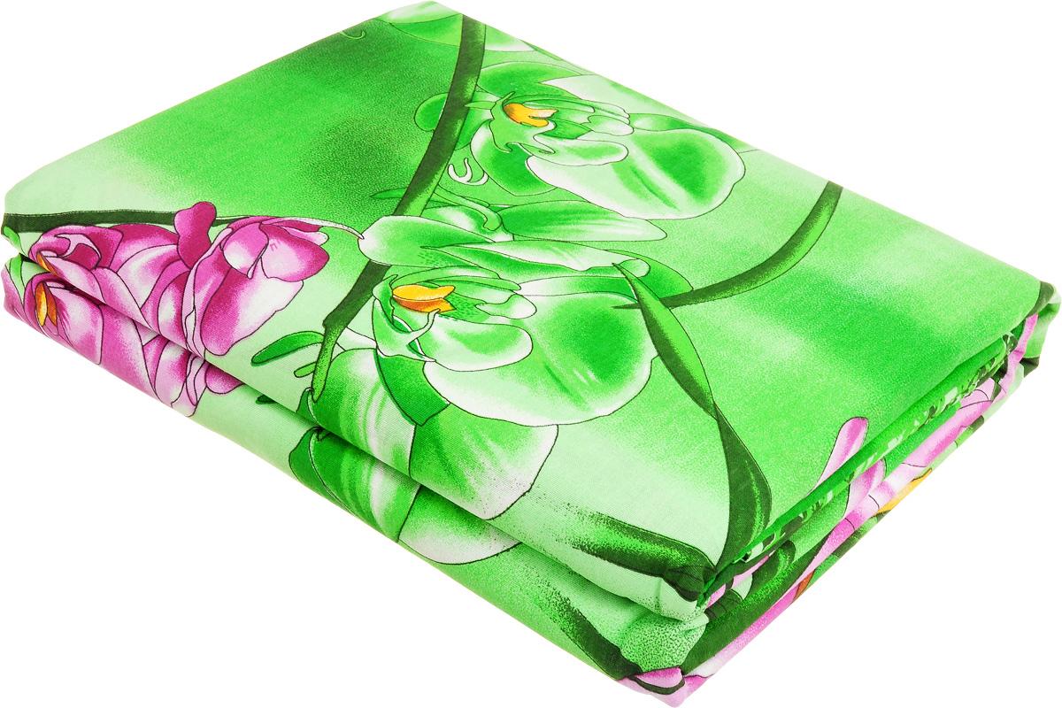 Комплект белья МарТекс Орхидеи в саду, евро, наволочки 50х70, 70х70, цвет: зеленый, розовый, красныйS03301004Комплект МарТекс Орхидеи в саду состоит из пододеяльника, простыни и четырех наволочек. Постельное белье, выполненное из бязи (100% хлопка), оформлено ярким рисунком с эффектом 3D и имеет изысканный внешний вид. Бязь - хлопчатобумажная ткань полотняного переплетения без искусственных добавок. Большое количество нитей делает эту ткань более плотной, более долговечной. Высокая плотность ткани позволяет сохранить форму изделия, его первоначальные размеры и первозданный рисунок.Приобретая комплект постельного белья МарТекс Орхидеи в саду, вы можете быть уверенны в том, что покупка доставит вам и вашим близким удовольствие и подарит максимальный комфорт.