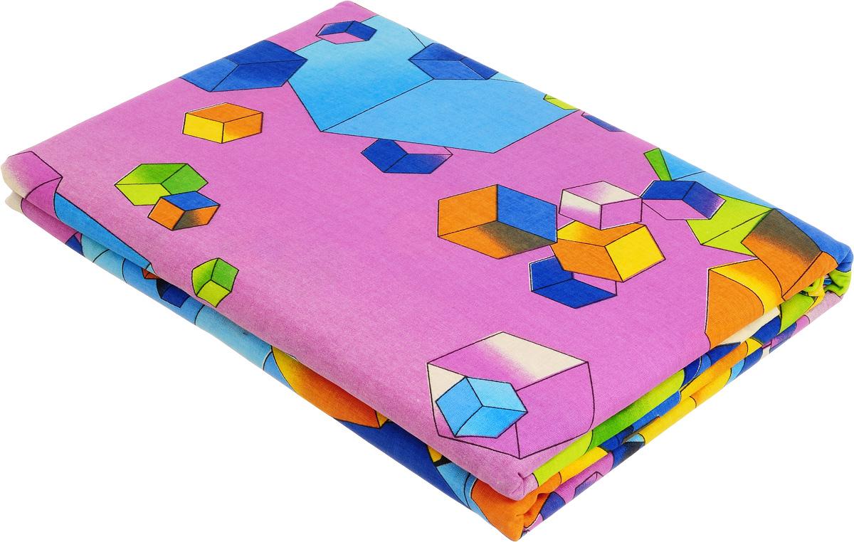 Комплект белья МарТекс Кубик-рубик, 1,5-спальный, наволочки 70х70, цвет: сиреневый, зеленый01-0581-1Комплект постельного белья МарТекс Кубик-рубик состоит из пододеяльника, простыни и двух наволочек и изготовлено из бязи. Постельное белье оформлено оригинальным ярким рисунком и имеет изысканный внешний вид. Бязь - вид ткани, произведенный из натурального хлопка. Бязевое белье выдерживает большое количество стирок. Благодаря натуральному хлопку, постельное белье приобретает способность пропускать воздух, давая возможность телу дышать. Приобретая комплект постельного белья МарТекс, вы можете быть уверенны в том, что покупка доставит вам и вашим близким удовольствие и подарит максимальный комфорт.