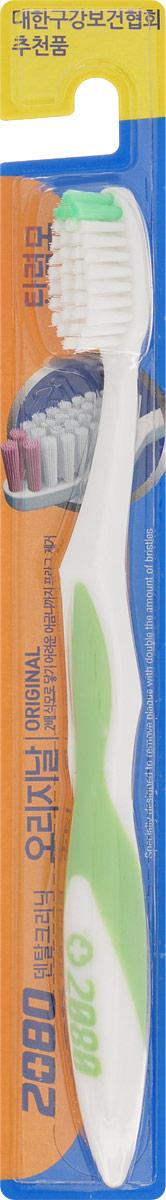 DC 2080 Зубная щетка Оригинал, средняя жесткость, цвет: салатовый28420_красныйDC 2080 Зубная щетка Оригинал, средняя жесткость, цвет: салатовый