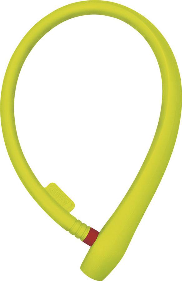 Велозамок Abus Ugrip Cable 560/65, с ключами, цвет: лайм, длина 65 см584763_ABUSВелосипедный замок Abus Ugrip Cable 560/65 - это отличная вещь для сохранности вашего велосипеда. Замок, выполненный из прочного пластика, оснащен металлическим тросом обтянутым мягким ПВХ. Блокируется при помощи ключа. Количество ключей: 2 шт. Длина: 65 м.