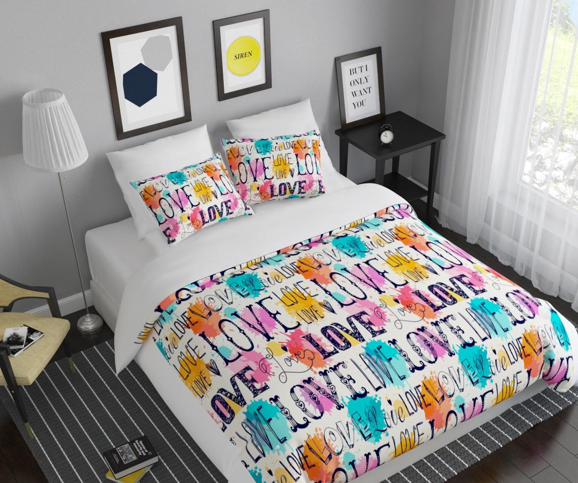 Комплект белья Сирень Любовь, 1,5-спальный, наволочки 50x70S03301004Комплект постельного белья Сирень Любовь состоит из простыни, пододеяльника и 2 наволочек. Комплект выполнен из современных гипоаллергенных материалов. Приятный при прикосновении сатин - гарантия здорового, спокойного сна. Ткань хорошо впитывает влагу, надолго сохраняет яркость красок. Четкий, изящный рисунок в сочетании с насыщенными красками делает комплект постельного белья неповторимой изюминкой любого интерьера. Постельное белье идеально подойдет для подарка.