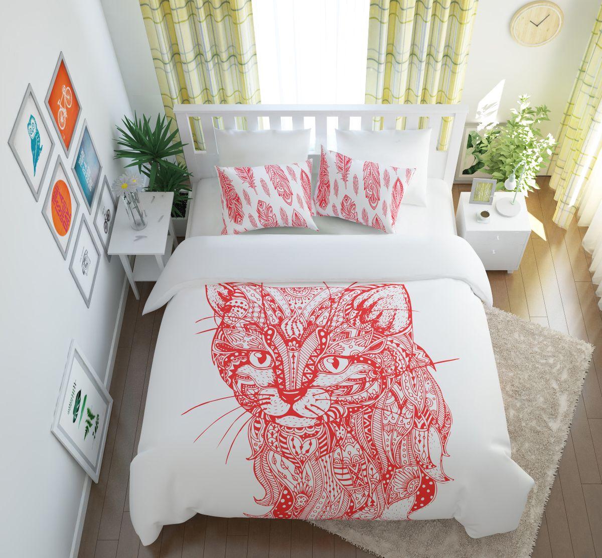 Комплект белья Сирень Волшебный кот, 1,5-спальный, наволочки 50x7007127-КПБ-МКомплект постельного белья Сирень выполнен из прочной и мягкой ткани. Четкий и стильный рисунок в сочетании с насыщенными красками делают комплект постельного белья неповторимой изюминкой любого интерьера. Постельное белье идеально подойдет для подарка. Идеальное соотношение смешенной ткани и гипоаллергенных красок это гарантия здорового, спокойного сна. Ткань хорошо впитывает влагу, надолго сохраняет яркость красок. Цвет простыни, пододеяльника, наволочки в комплектации может немного отличаться от представленного на фото. В комплект входят: простынь - 150х220см; пододельяник 145х210 см; наволочка - 50х70х2шт. Постельное белье легко стирать при 30-40 градусах, гладить при 150 градусах, не отбеливать.Рекомендуется перед первым изпользованием постирать.