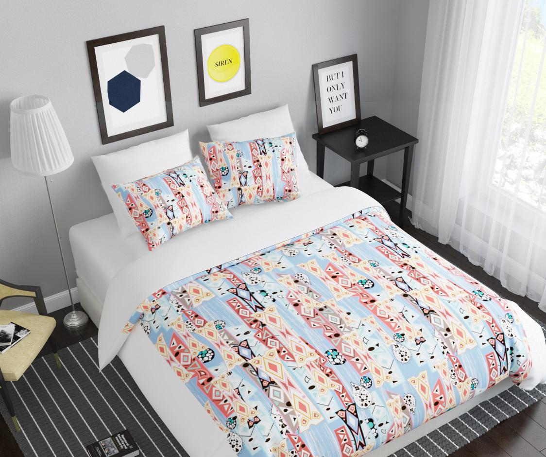 Комплект белья Сирень Калейдоскоп, 1,5-спальный, наволочки 50x7007896-КПБ-МКомплект постельного белья Сирень выполнен из прочной и мягкой ткани. Четкий и стильный рисунок в сочетании с насыщенными красками делают комплект постельного белья неповторимой изюминкой любого интерьера. Постельное белье идеально подойдет для подарка. Идеальное соотношение смешенной ткани и гипоаллергенных красок это гарантия здорового, спокойного сна. Ткань хорошо впитывает влагу, надолго сохраняет яркость красок. Цвет простыни, пододеяльника, наволочки в комплектации может немного отличаться от представленного на фото. В комплект входят: простынь - 150х220см; пододельяник 145х210 см; наволочка - 50х70х2шт. Постельное белье легко стирать при 30-40 градусах, гладить при 150 градусах, не отбеливать.Рекомендуется перед первым изпользованием постирать.