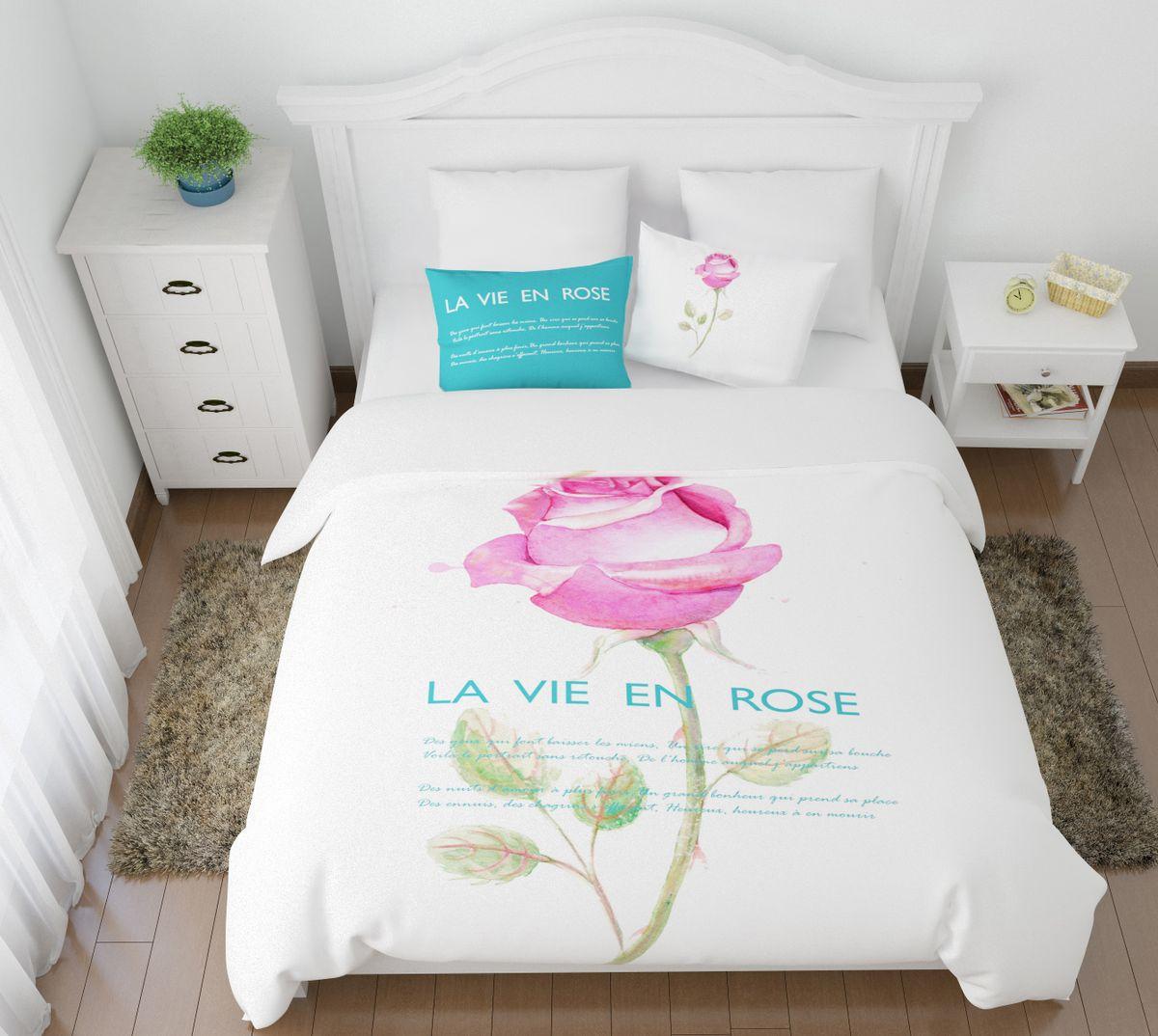Комплект белья Сирень Жизнь в розовом цвете, 1,5-спальный, наволочки 50x7008443-КПБ-МКомплект постельного белья Сирень выполнен из прочной и мягкой ткани. Четкий и стильный рисунок в сочетании с насыщенными красками делают комплект постельного белья неповторимой изюминкой любого интерьера. Постельное белье идеально подойдет для подарка. Идеальное соотношение смешенной ткани и гипоаллергенных красок это гарантия здорового, спокойного сна. Ткань хорошо впитывает влагу, надолго сохраняет яркость красок. Цвет простыни, пододеяльника, наволочки в комплектации может немного отличаться от представленного на фото. В комплект входят: простынь - 150х220см; пододельяник 145х210 см; наволочка - 50х70х2шт. Постельное белье легко стирать при 30-40 градусах, гладить при 150 градусах, не отбеливать.Рекомендуется перед первым изпользованием постирать.