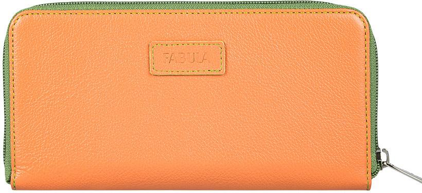 Портмоне женское Fabula Ultra, цвет: оранжевый. PJ.147.FPBM8434-58AEЖенское полнокупюрное портмоне из коллекции «Ultra» выполнено из натуральной кожи. Закрывается на молнию. Внутренний функционал: 2 отделения для купюр, 3 скрытых кармана, 8 карманов для кредитных карт. На внешней оборотной стороне отделение для мелочи на молнии.