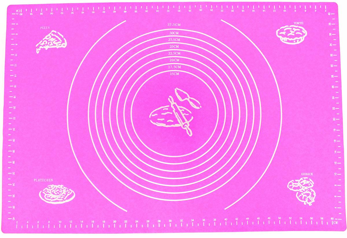 Коврик для выпечки Domodin, цвет: розовый, 40 х 60 смSL4019-1Коврик для выпечки изготовлен из силикона, поэтому легко гнется и выдерживает температуру до +230 °С. Предназначен для гигиеничного приготовления любой выпечки из теста. Коврик оснащен мерной шкалой по краям (60 см х 40 см) и круглым шаблоном для теста (диаметр 15-37,5 см). Раскатывая тесто на таком коврике, вы всегда сможете придать ему нужный размер. Кроме того, тесто не прилипает. Коврик очень удобный и облегчит приготовление теста.