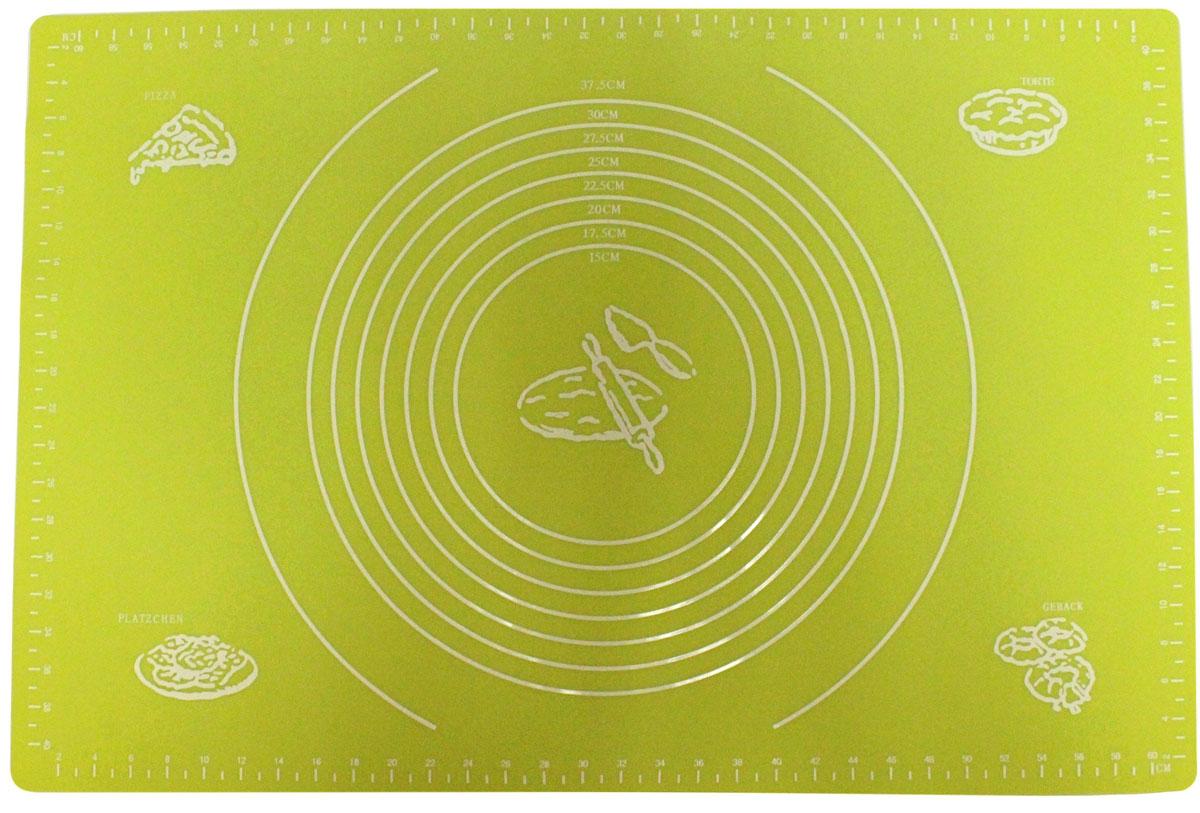Коврик для выпечки Domodin, цвет: зеленый, 40 х 60 смSL4019-3Коврик для выпечки изготовлен из силикона, поэтому легко гнется и выдерживает температуру до +230 °С. Предназначен для гигиеничного приготовления любой выпечки из теста. Коврик оснащен мерной шкалой по краям (60 см х 40 см) и круглым шаблоном для теста (диаметр 15-37,5 см). Раскатывая тесто на таком коврике, вы всегда сможете придать ему нужный размер. Кроме того, тесто не прилипает. Коврик очень удобный и облегчит приготовление теста.