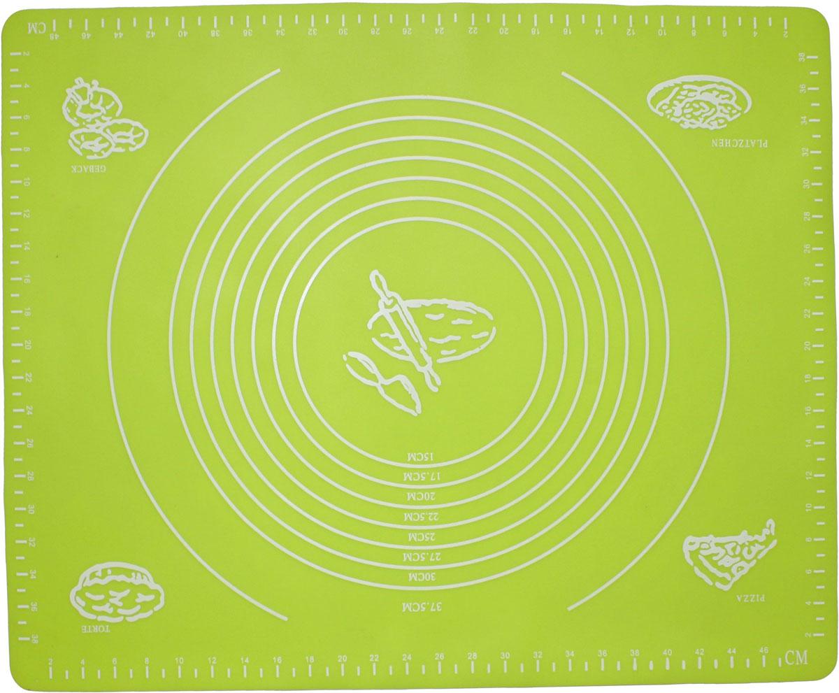 Коврик для выпечки Domodin, цвет: зеленый, 40 х 50 см94672Коврик для выпечки изготовлен из силикона, поэтому легко гнется и выдерживает температуру до +230 °С. Предназначен для гигиеничного приготовления любой выпечки из теста. Коврик оснащен мерной шкалой по краям (48 см х 38 см) и круглым шаблоном для теста (диаметр 15-37,5 см). Раскатывая тесто на таком коврике, вы всегда сможете придать ему нужный размер. Кроме того, тесто не прилипает. Коврик очень удобный и облегчит приготовление теста.