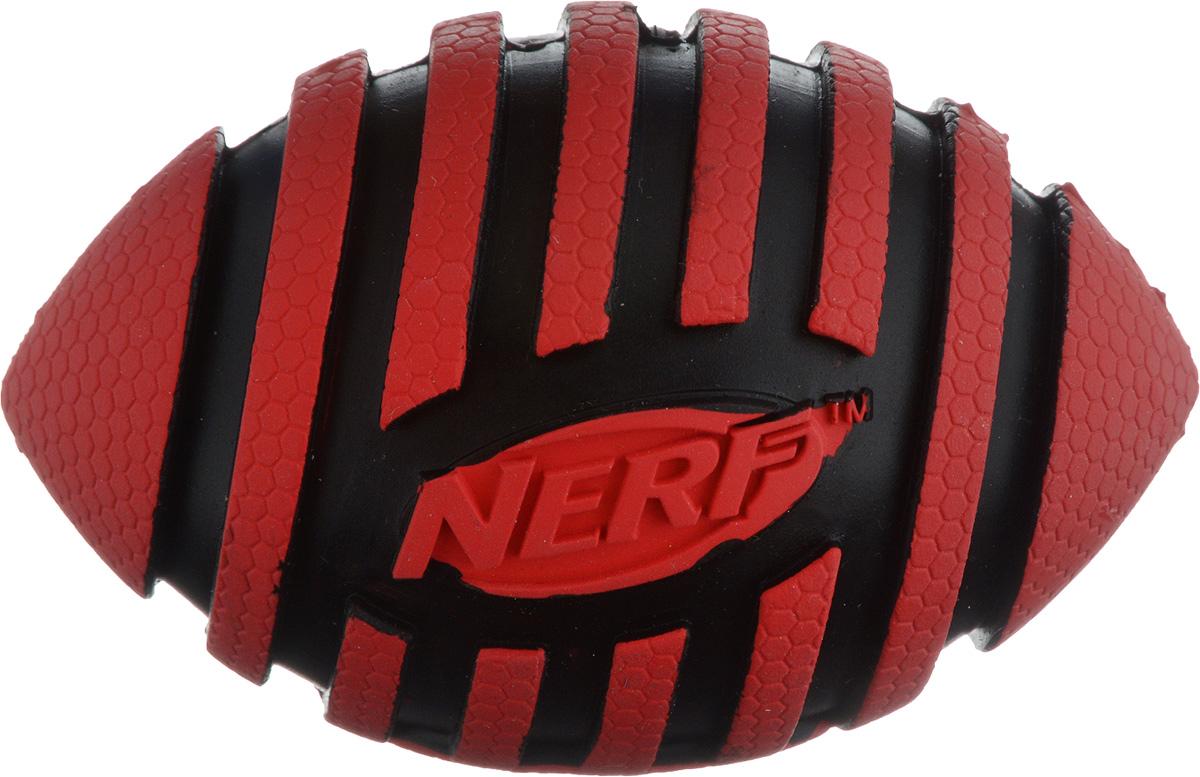 Игрушка для собак Nerf Мяч для регби, с пищалкой, длина 9 см22217_красный, черныйИгрушка для собак Nerf Мяч для регби выполнена из резины в форме мяча для регби. Игрушка оснащена пищалкой, что вызовет дополнительный интерес вашего питомца. Такая игрушка порадует вашего любимца, а вам доставит массу приятных эмоций, ведь наблюдать за игрой всегда интересно и приятно. Размер игрушки: 5,5 х 5,5 х 9 см.