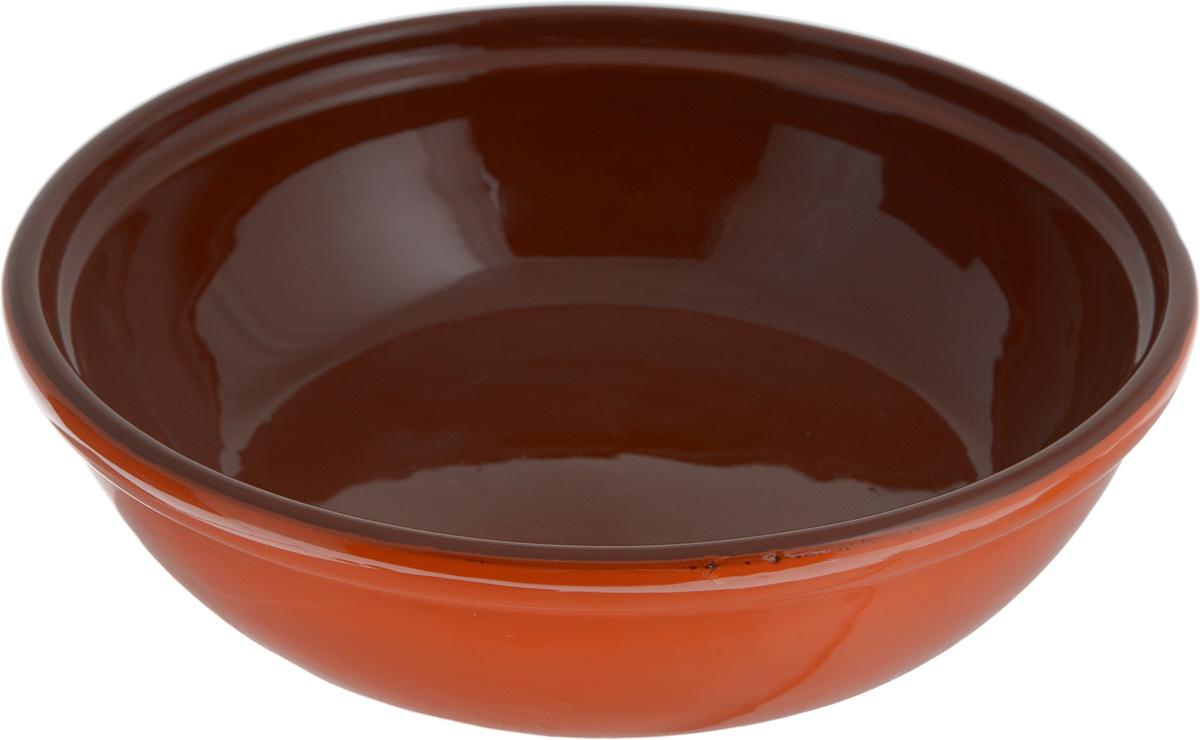 Салатник Борисовская керамика Модерн, цвет: оранжевый, коричневый, 1 лРАД00000830_оранжевый, коричневыйСалатник Борисовская керамика Модерн выполнен из высококачественной глазурованной керамики. Этот удобный салатник придется по вкусу любителям здоровой и полезной пищи. Благодаря современной удобной форме, изделие многофункционально и может использоваться хозяйками на кухне как в виде салатника, так и для запекания продуктов, с последующим хранением в нем приготовленной пищи. Посуда термостойкая. Можно использовать в духовке и микроволновой печи. Диаметр (по верхнему краю): 22 см. Высота стенки: 6 см.