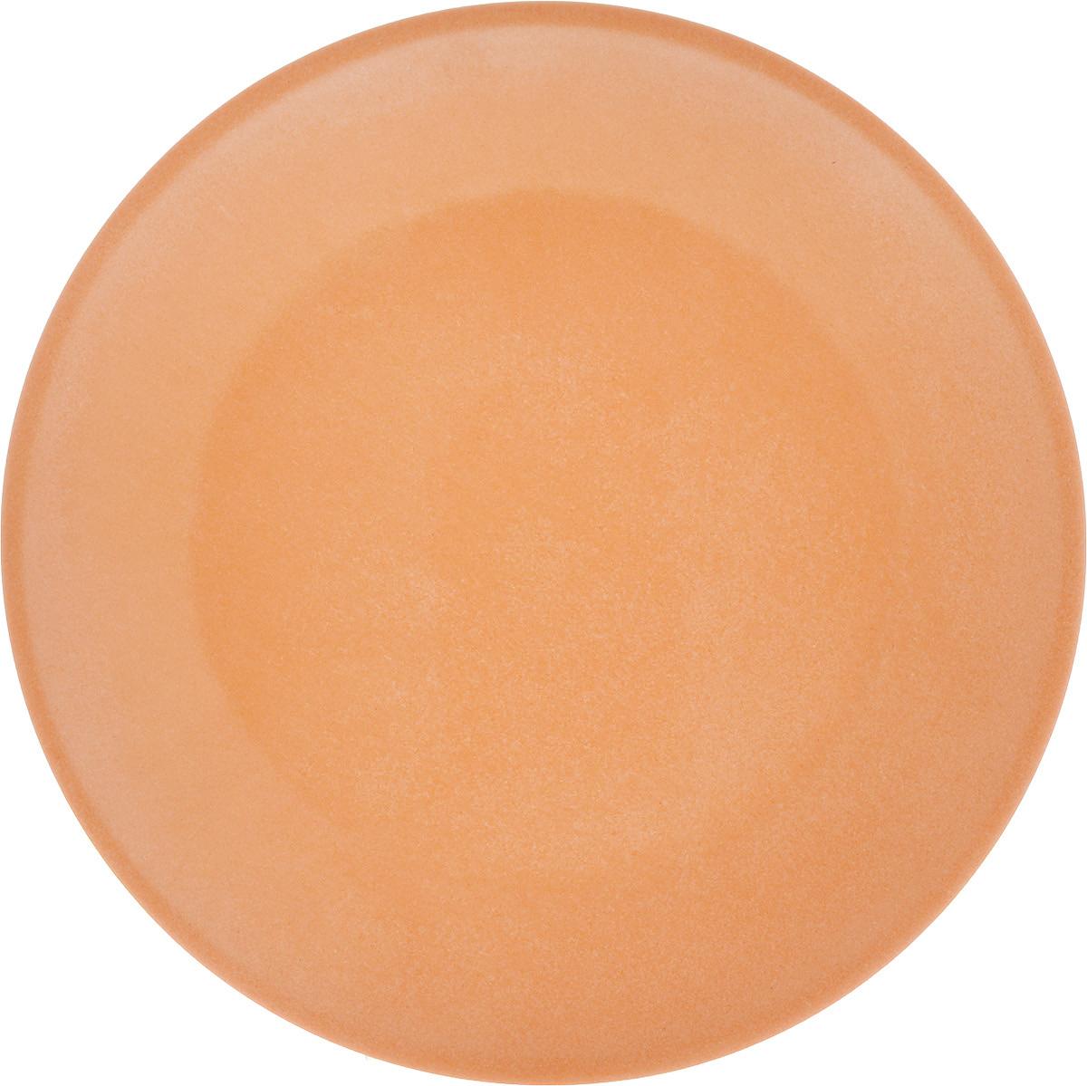 Блюдо MOULINvilla, цвет: светло-оранжевый, диаметр 21,8 смTSF-05_светло-оранжевыйКруглое блюдо MOULINvilla изготовлено из природного бамбука, очищенного от вредных примесей. Для окраски используются натуральные пищевые красители. Бамбук, сам по себе, является природным антисептиком. Эта уникальная особенность посуды гарантирует безопасность при эксплуатации и хранении различных видов пищевой продукции. Такое блюдо можно использовать для горячих и холодных продуктов. Диапазон температур от -20°С до 120°С. Блюдо MOULINvilla не только прекрасно дополнит ваш интерьер, но и станет отличным подарком для близких вам людей. Можно мыть в посудомоечной машине. Допускается использовать в СВЧ печах. Размер блюда: 21,8 х 21,8 х 1,9 см.