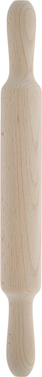 Скалка Proffi, длина 35 смPH6563Скалка Proffi, изготовленная из бука, оснащена двумя удобными ручками. Бук прекрасно поддается шлифовке и полировке. Он не боится влаги, но, как в случае со всеми без исключения скалками из древесины, вопрос влагостойкости решается пропиткой дерева специальным минеральным или льняным маслом. Масло защищает скалку от коробления и растрескивания. Именно поэтому все скалки Proffi обработаны льняным маслом. Такая скалка поможет с легкостью готовить ваши любимые блюда. Не рекомендуется мыть в посудомоечной машине. Длина скалки: 35 см. Длина валика: 19 см. Диаметр валика: 4 см.