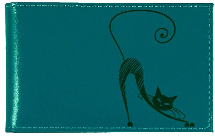 Визитница горизонтальная Befler Изящная кошка. V.37.-1, цвет: морская волна021201_01Компактная горизонтальная визитница Befler Изящная кошка цвета морской волны- стильная вещь для хранения визиток. Обложка визитницы выполнена из натуральной кожи и оформлена декоративным тиснением в виде черной кошки.Визитница предназначена для хранения 20 визиток. Характеристики: Цвет: морской волны. Размер: 11 см x 7 см x 1 см. Размер упаковки: 14 см x 7,5 см x 2 см. Материал: натуральная кожа. Производитель: Россия. Артикул: V.37.-1.lagoon.