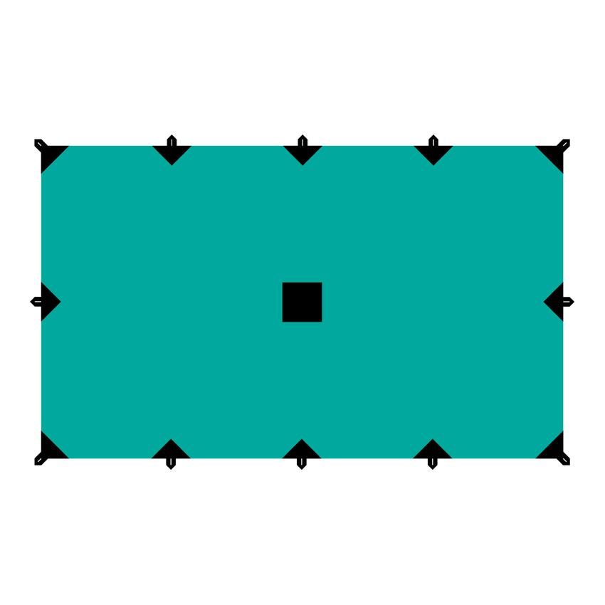 Тент Tramp, цвет: зеленый, 3 х 5 мGESS-725Универсальный тент Tramp предназначен для защиты от дождя и солнца. Использование высококачественного полиэстера делает тент прочным, легким и не впитывающим влагу. Тент имеет пропитку, защищающую от ультрафиолетового излучения. По периметру вшиты петли для фиксации тента на оттяжках. Углы тента усилены вставками из прочной ткани. Светоотражающие оттяжки с регуляторами длины и стальные колышки в комплекте. Тент упаковывается в чехол для транспортировки и хранения. Размер тента: 3 х 5 м.