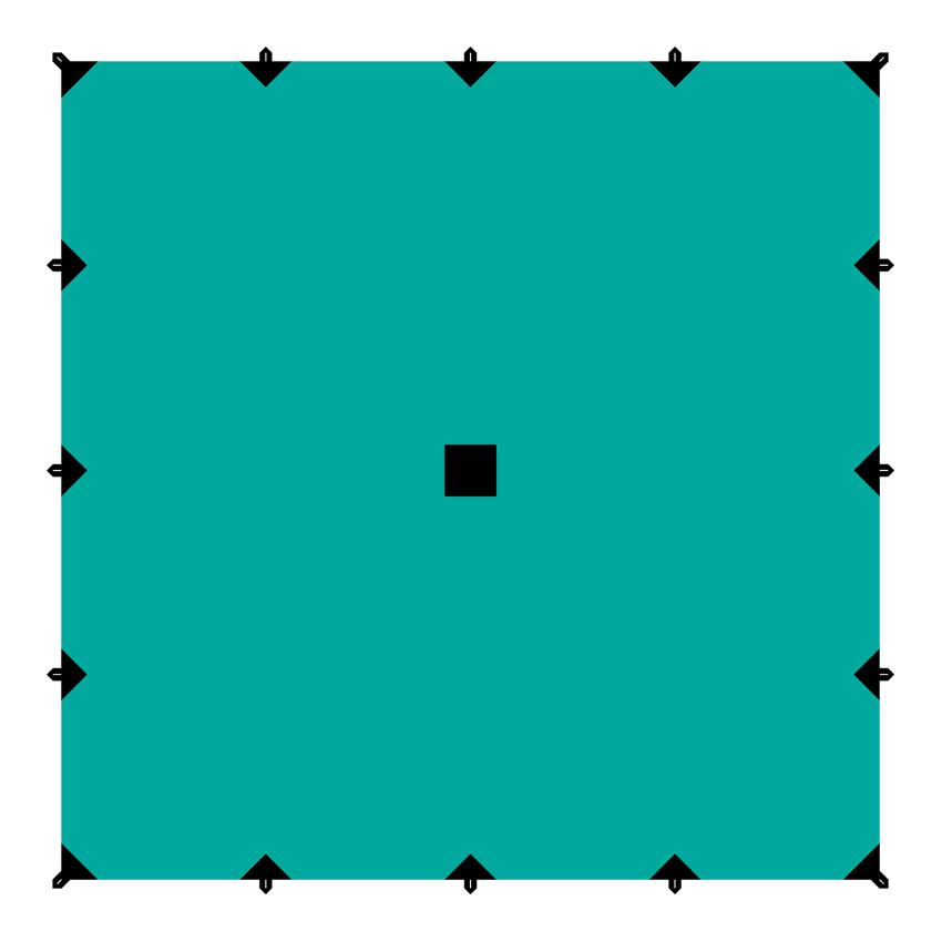 Тент Tramp, цвет: зеленый, 6 х 6 мTRT-103.04Универсальный квадратный тент Tramp предназначен для защиты от дождя и солнца. Использование высококачественного полиэстера делает тент прочным, легким и не впитывающим влагу. Тент имеет пропитку, защищающую от ультрафиолетового излучения. По периметру вшиты петли для фиксации тента на оттяжках. Углы тента усилены вставками из прочной ткани. Светоотражающие оттяжки с регуляторами длины и стальные колышки в комплекте. Тент упаковывается в чехол для транспортировки и хранения. Размер тента: 6 х 6 м.
