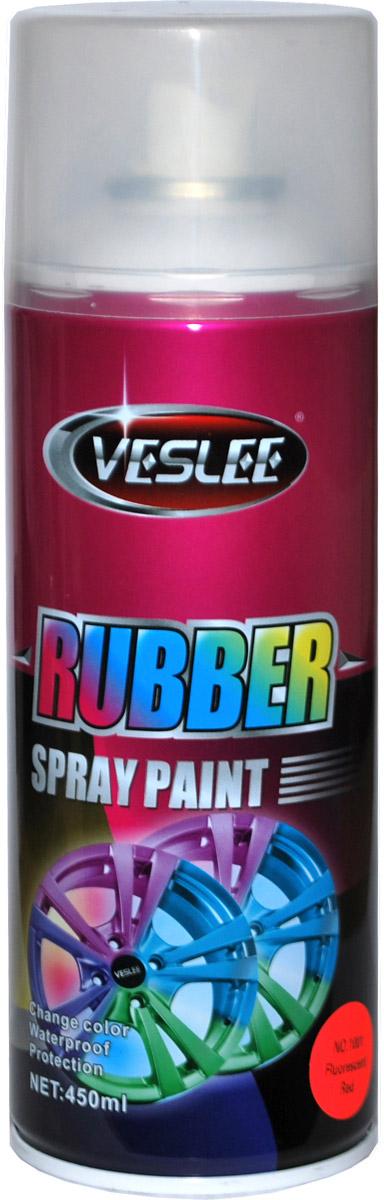 Аэрозольная краска Veslee, резиновая, флуоресцентная, цвет: a1001 красный, 450 гDAVC150Представляет собой резиновое покрытие, которое после высыхания образует эластичную водоотталкивающую плёнку, защищающую по¬верхность от повреждений и коррозии. При необходимости просто снимается с поверхности как плёнка, не оставляя следов и не повреждая покрытие. Применяется для окраски автомобильных дисков и других предметов, которые нужно выделить с помощью цвета. Представлена в яркой флуоресцентной цветовой гамме, а также в золотом, прозрачном и матовых вариантах.Резиновая краска — это новый сверхудобный материал широкого применения. Благодаря своим свойствам отлично подходит для:— тюнинга автомобилей мотоциклов и других средств передвижения;— может применяться в интерьере жилых помещений;— гидроизолирует всё, на что наносится;— приятна на ощупь и при особом нанесении можно получить красивую фактуру, что незаменимо для аксессуаров (брелки, телефоны, украшения, флешки и многое другое). Применение ограничивается лишь вашей фантазией.