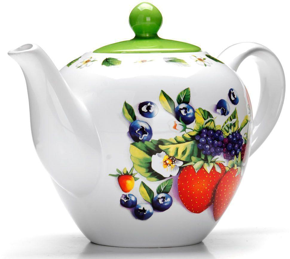 Заварочный чайник Loraine Ягоды, 1,2 л, с крышкой. 2628026280Заварочный чайник с крышкой Loraine поможет вам в приготовлении вкусного и ароматного чая, а также станет украшением вашей кухни. Он изготовлен из доломитовой керамики в розовых тонах и оформлен красочным цветочным изображением. Нежный рисунок придает чайнику особый шарм, чайник удобен в использовании и понравится каждому. Такой заварочный чайник станет приятным и практичным подарком на любой праздник. Подходит для мытья в посудомоечной машине.