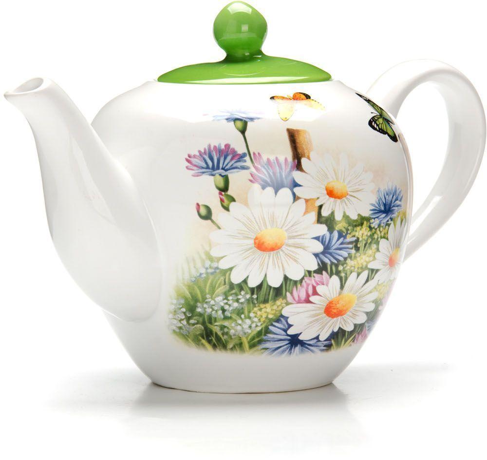 Заварочный чайник Loraine Лето, 1,2 л, с крышкой. 2629726297Заварочный чайник с крышкой Loraine поможет вам в приготовлении вкусного и ароматного чая, а также станет украшением вашей кухни. Он изготовлен из доломитовой керамики в красивых тонах и оформлен красочным изображением. Нежный рисунок придает чайнику особый шарм, чайник удобен в использовании и понравится каждому. Такой заварочный чайник станет приятным и практичным подарком на любой праздник. Подходит для мытья в посудомоечной машине.