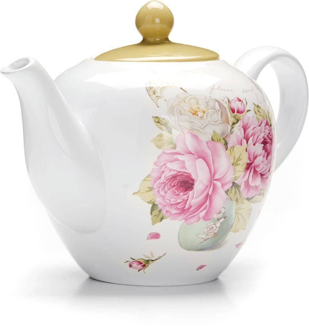 Заварочный чайник Loraine Пионы, 1,2 л. 2633126331Заварочный чайник с крышкой поможет вам в приготовлении вкусного и ароматного чая, а также станет украшением вашей кухни. Он изготовлен из доломитовой керамики в красивых тонах и оформлен красочным изображением. Нежный рисунок придает чайнику особый шарм, чайник удобен в использовании и понравится каждому. Такой заварочный чайник станет приятным и практичным подарком на любой праздник. Подходит для мытья в посудомоечной машине.