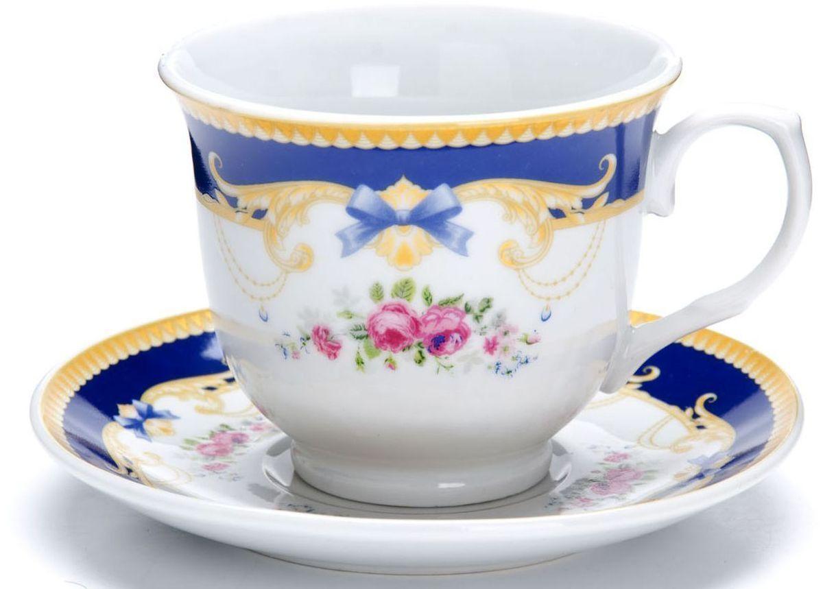 Чайный сервиз Loraine, 220 мл, подарочная упаковка. 2642926429Чайный набор Loraine выполнен из высококачественного фарфора белого цвета и украшен нежным цветочным рисунком. Изящный дизайн и красочность оформления придутся по вкусу и ценителям классики, и тем, кто предпочитает утонченность и изысканность. Чайный набор - идеальный и необходимый подарок для вашего дома и для ваших друзей в праздники, юбилеи и торжества! Он также станет отличным корпоративным подарком и украшением любой кухни. Набор упакован в подарочную упаковку. Такой чайный набор станет прекрасным украшением стола, а процесс чаепития превратится в одно удовольствие! Это замечательный выбор для подарка родным и друзьям!