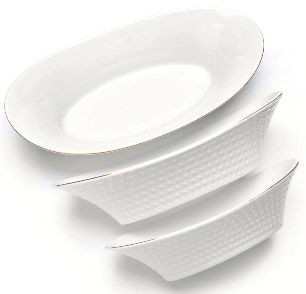 Набор салатников Loraine, 3 предмета, 23 х 28 х 33 см. 2651626516Набор салатников Loraine великолепная и изящная модель, которая станет превосходным дополнением, как для вашего повседневного стола, так и праздничной сервировки. Прекрасно подойдет как для подачи салатов или гарниров. Приготовление пищи с использованием такой посуды становиться более приятным и легким процессом, так как в ней удобно перемешивать продукты и ее легко мыть. Подходит для мытья в посудомоечной машине.