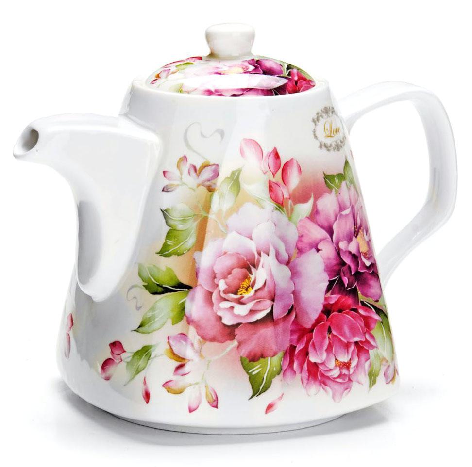 Заварочный чайник Loraine Цветы, 1,1 л. 2654526545Заварочный чайник изготовлен из высококачественной керамики. Посуда из данного материала позволяет максимально сохранить полезные свойства и вкусовые качества воды. Украшенные изящным рисунком стенки чайника, придают ему эстетичности на столе. Чайник изысканно украсит стол к чаепитию и порадует вас классическим дизайном и качеством исполнения. Не использовать в микроволновой печи. Не применять абразивные моющие средства.