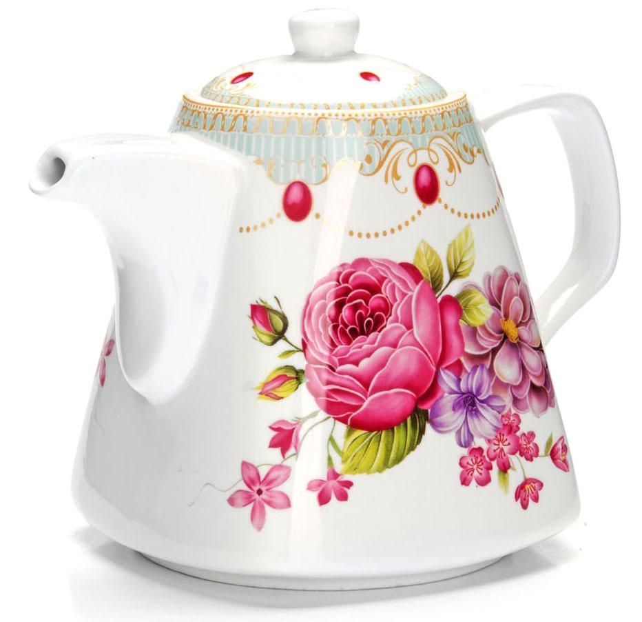 Заварочный чайник Loraine Цветы, 1,1 л. 2654826548Заварочный чайник изготовлен из высококачественной керамики. Посуда из данного материала позволяет максимально сохранить полезные свойства и вкусовые качества воды. Украшенные изящным рисунком стенки чайника, придают ему эстетичности на столе. Чайник изысканно украсит стол к чаепитию и порадует вас классическим дизайном и качеством исполнения. Не использовать в микроволновой печи. Не применять абразивные моющие средства.