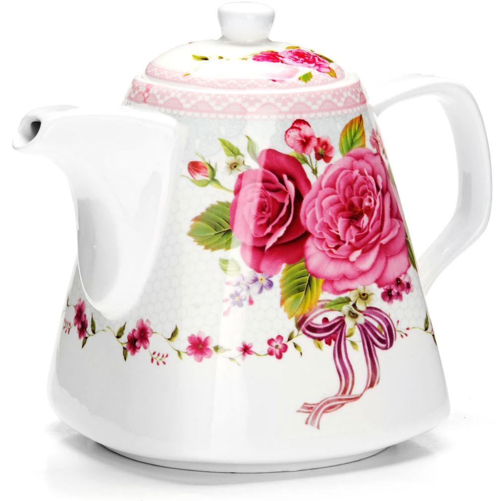 Заварочный чайник Loraine Цветы, 1,1 л. 2654926549Заварочный чайник изготовлен из высококачественной керамики. Посуда из данного материала позволяет максимально сохранить полезные свойства и вкусовые качества воды. Украшенные изящным рисунком стенки чайника, придают ему эстетичности на столе. Чайник изысканно украсит стол к чаепитию и порадует вас классическим дизайном и качеством исполнения. Не использовать в микроволновой печи. Не применять абразивные моющие средства.