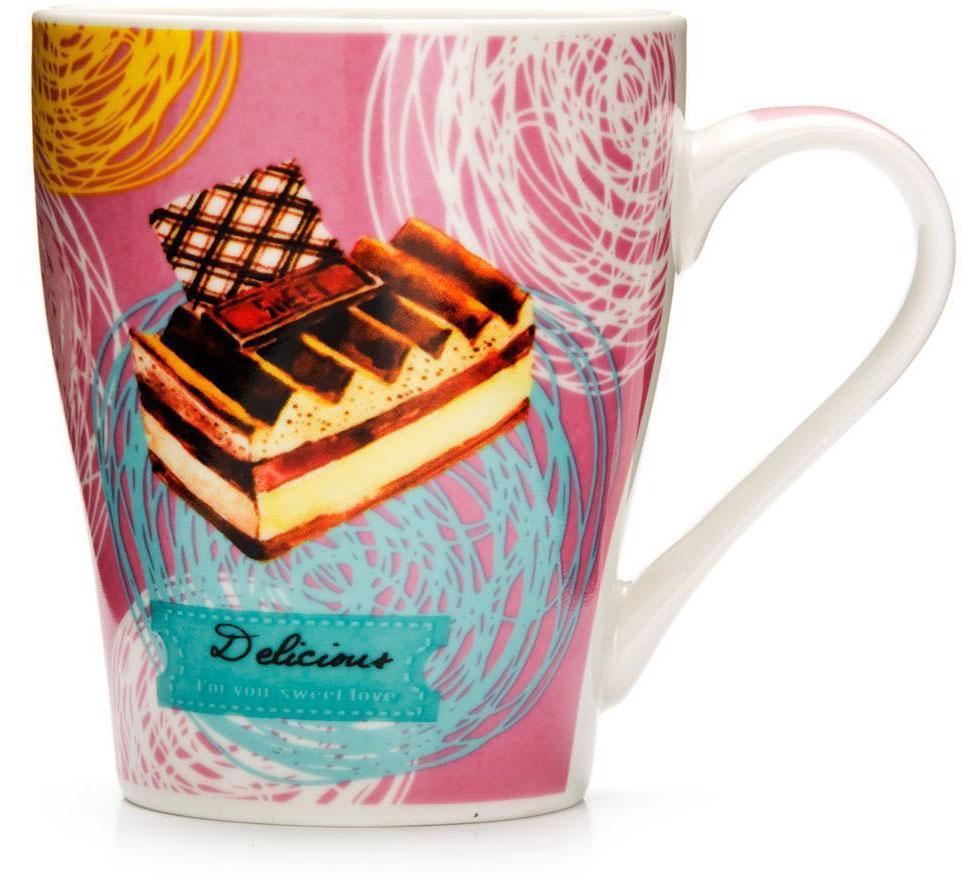 Кружка Loraine Десерт, 340 мл, подарочная упаковка. 26575-126575-1Кружка Loraine, выполненная из костяного фарфора и украшенная ярким рисунком, станет красивым и полезным подарком для ваших родных и близких. Дизайн изделия придется по вкусу и ценителям классики, и тем, кто предпочитает утонченность и изысканность. Кружка Loraine настроит на позитивный лад и подарит хорошее настроение с самого утра. Изделие пригодно для использования в микроволновой печи и холодильника. Подходит для мытья в посудомоечной машине.