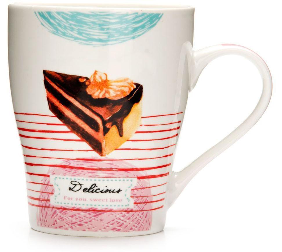 Кружка Loraine Десерт, 340 мл, подарочная упаковка. 26575-226575-2Кружка Loraine, выполненная из костяного фарфора и украшенная ярким рисунком, станет красивым и полезным подарком для ваших родных и близких. Дизайн изделия придется по вкусу и ценителям классики, и тем, кто предпочитает утонченность и изысканность. Кружка Loraine настроит на позитивный лад и подарит хорошее настроение с самого утра. Изделие пригодно для использования в микроволновой печи и холодильника. Подходит для мытья в посудомоечной машине.