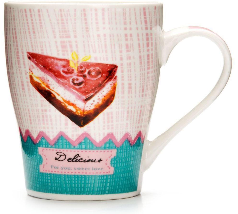 Кружка Loraine Десерт, 340 мл, подарочная упаковка. 26575-326575-3Кружка Loraine, выполненная из костяного фарфора и украшенная ярким рисунком, станет красивым и полезным подарком для ваших родных и близких. Дизайн изделия придется по вкусу и ценителям классики, и тем, кто предпочитает утонченность и изысканность. Кружка Loraine настроит на позитивный лад и подарит хорошее настроение с самого утра. Изделие пригодно для использования в микроволновой печи и холодильника. Подходит для мытья в посудомоечной машине.