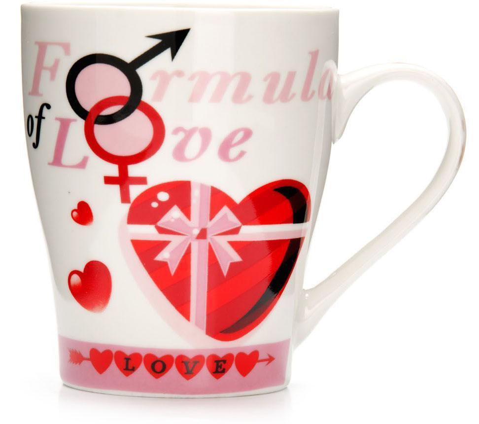 Кружка Loraine Любовь, 340 мл, подарочная упаковка. 26577-126577-1Кружка Loraine, выполненная из костяного фарфора и украшенная ярким рисунком, станет красивым и полезным подарком для ваших родных и близких. Дизайн изделия придется по вкусу и ценителям классики, и тем, кто предпочитает утонченность и изысканность. Кружка Loraine настроит на позитивный лад и подарит хорошее настроение с самого утра. Изделие пригодно для использования в микроволновой печи и холодильника. Подходит для мытья в посудомоечной машине.