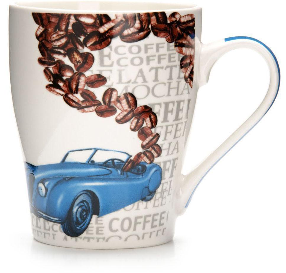 Кружка Loraine Автомобиль, 340 мл, подарочная упаковка. 26584-126584-1Кружка Loraine, выполненная из костяного фарфора и украшенная ярким рисунком, станет красивым и полезным подарком для ваших родных и близких. Дизайн изделия придется по вкусу и ценителям классики, и тем, кто предпочитает утонченность и изысканность. Кружка Loraine настроит на позитивный лад и подарит хорошее настроение с самого утра. Изделие пригодно для использования в микроволновой печи и холодильника. Подходит для мытья в посудомоечной машине.