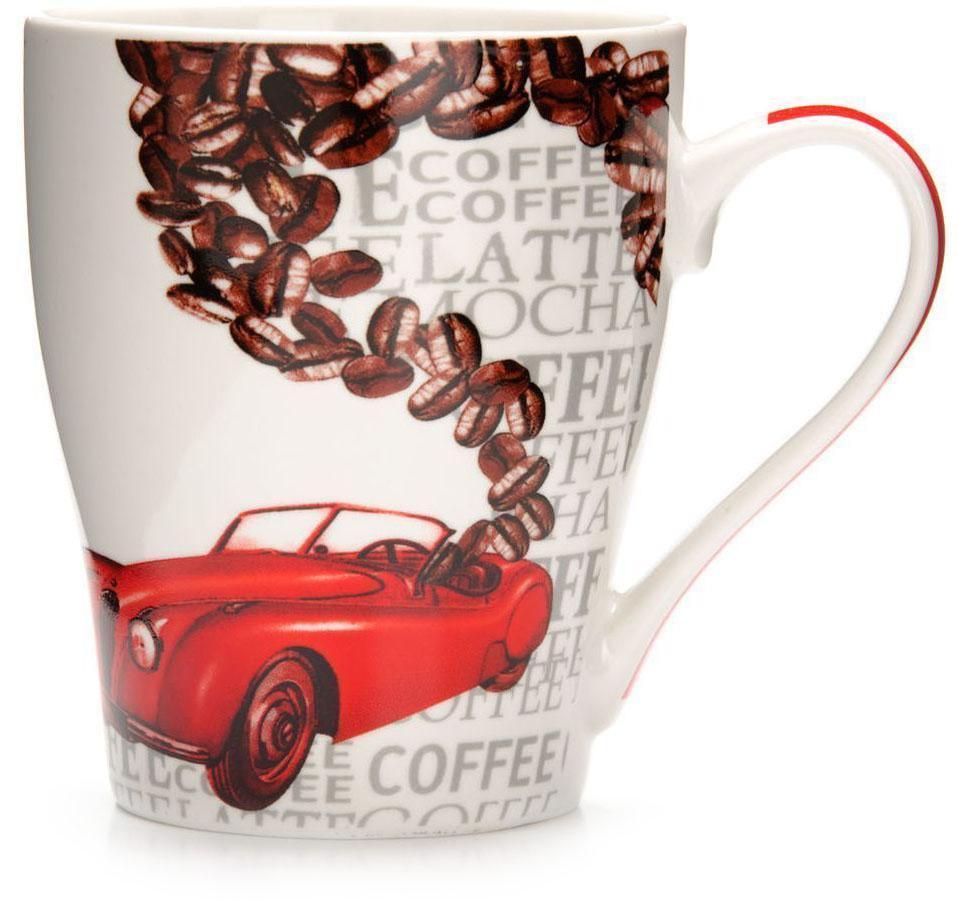 Кружка Loraine Автомобиль, 340 мл, подарочная упаковка. 26584-326584-3Кружка Loraine, выполненная из костяного фарфора и украшенная ярким рисунком, станет красивым и полезным подарком для ваших родных и близких. Дизайн изделия придется по вкусу и ценителям классики, и тем, кто предпочитает утонченность и изысканность. Кружка Loraine настроит на позитивный лад и подарит хорошее настроение с самого утра. Изделие пригодно для использования в микроволновой печи и холодильника. Подходит для мытья в посудомоечной машине.