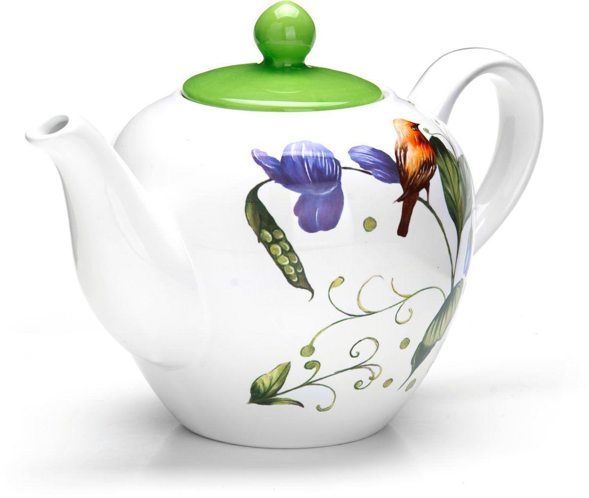 Заварочный чайник Loraine Птичка, 1,2 л, с крышкой. 2660826608Заварочный чайник с крышкой Loraine поможет вам в приготовлении вкусного и ароматного чая, а также станет украшением вашей кухни. Он изготовлен из доломитовой керамики в розовых тонах и оформлен красочным цветочным изображением. Нежный рисунок придает чайнику особый шарм, чайник удобен в использовании и понравится каждому. Такой заварочный чайник станет приятным и практичным подарком на любой праздник. Подходит для мытья в посудомоечной машине.