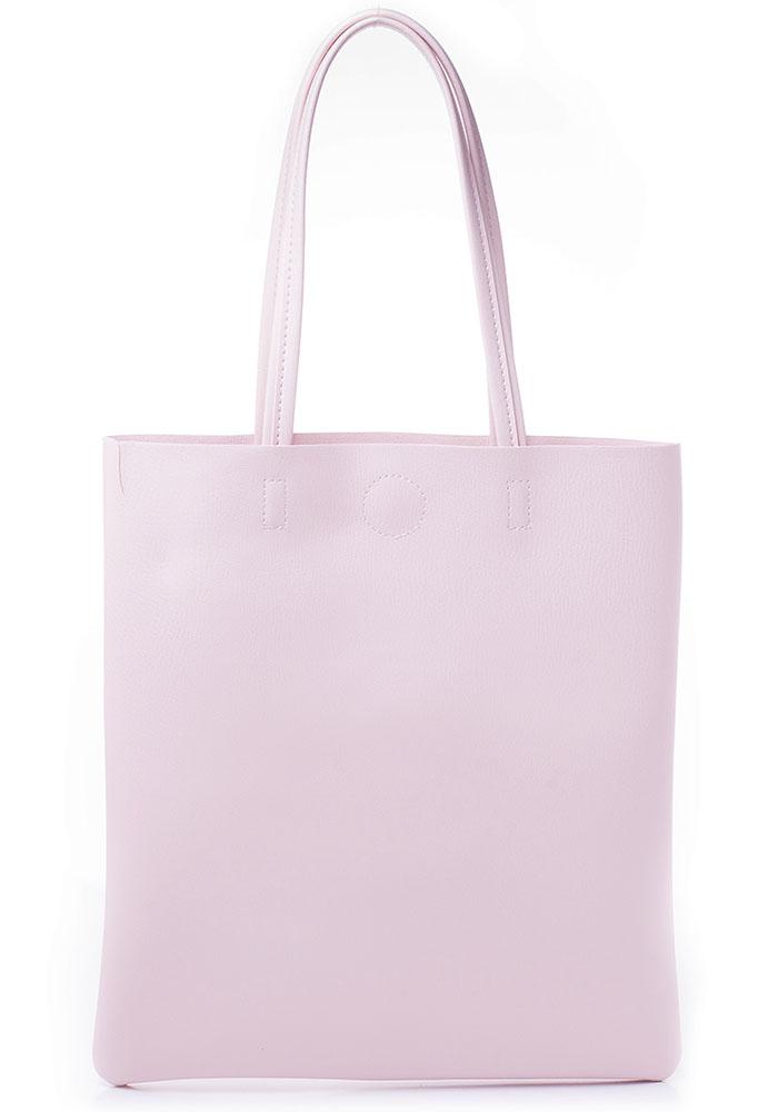 Сумка женская Baggini, цвет: светло-розовый. 27001/63BP-001 BKЖенская сумка Baggini выполнена из искусственной кожи. Модель с одним отделением застегивается на металлическую кнопку. Внутри имеется карман на молнии. Сумка оснащена удобными ручками.