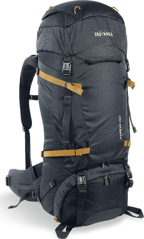 Рюкзак туристический Tatonka Karas, цвет: черный, 60+10 л800802Надежный туристический рюкзак с базовым набором характеристик. Регулируемая система Y1 гарантирует комфорт при переносе нетяжелых грузов. Отличное сочетание цена/качество. Преимущества и особенности:Система переноски Y1Перегородка между верхним и нижним отделенимиПетли для крепления треккинговых палокЛямки анатомической формыРегулируемый нагрудный ременьМягкий и удобный поясной ременьВозможность затянуть или ослабить пояс одной рукойБоковые стяжкиРучки в передней и задней частях рюкзака3D-вход в основное отделениеКарман в крышке рюзака Съемная регулируемая крышка рюкзакаПросторные боковые карманы