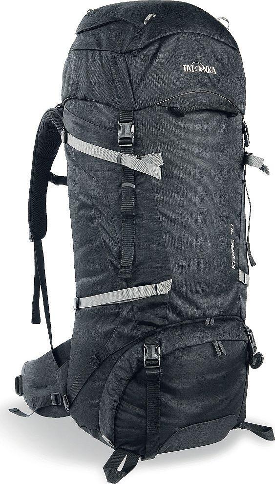 Рюкзак туристический Tatonka Karas, цвет: черный, 70+10 л1362.040Надежный туристический рюкзак с базовым набором характеристик. Регулируемая система Y1 гарантирует комфорт при переносе нетяжелых грузов. Отличное сочетание цена/качество. Преимущества и особенности: Система переноски Y1 Перегородка между верхним и нижним отделеними Петли для крепления треккинговых палок Лямки анатомической формы Регулируемый нагрудный ремень Мягкий и удобный поясной ремень Возможность затянуть или ослабить пояс одной рукой Боковые стяжки Ручки в передней и задней частях рюкзака 3D-вход в основное отделение Карман в крышке рюзака Съемная регулируемая крышка рюкзака Просторные боковые карманы