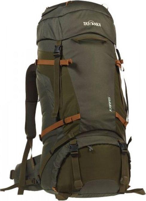 Рюкзак туристический Tatonka Karas, цвет: оливковый, 70+10 л1362.331Надежный туристический рюкзак с базовым набором характеристик. Регулируемая система Y1 гарантирует комфорт при переносе нетяжелых грузов. Отличное сочетание цена/качество. Преимущества и особенности: Система переноски Y1 Перегородка между верхним и нижним отделеними Петли для крепления треккинговых палок Лямки анатомической формы Регулируемый нагрудный ремень Мягкий и удобный поясной ремень Возможность затянуть или ослабить пояс одной рукой Боковые стяжки Ручки в передней и задней частях рюкзака 3D-вход в основное отделение Карман в крышке рюзака Съемная регулируемая крышка рюкзака Просторные боковые карманы