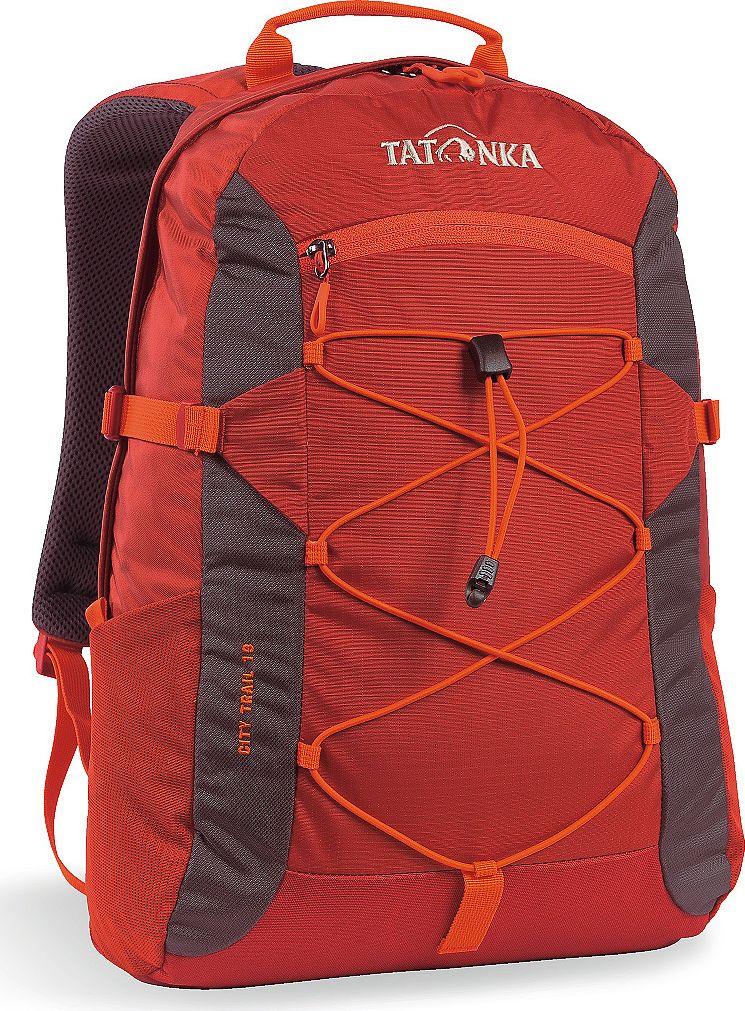Рюкзак городской Tatonka City Trail, цвет: красный, 19 лJSO-10304City Trail 19 идеален для ежедневного использования. Спинка Vent Comfort Back System обеспечит вентиляцию даже в жаркий день. Рюкзак оснащен прилегающим к спине карманом для ноутбука 15,4 дюйма. Карман не доходит до дна рюкзака, таким образом, даже если неаккуратно поставить рюкзак на пол, ноутбук будет в сохранности.Основное отделение закрывается на молнию с двумя бегунками. Эластичная стропа по центру рюкзака позволяет закрепить велошлем или куртку.