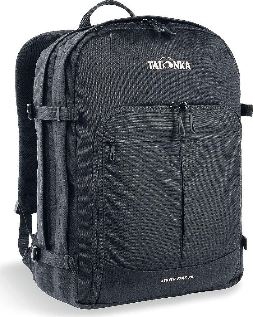 Рюкзак городской Tatonka Server Pack, для учебы и работы, цвет: черный, 29 л1630.040Вместительный рюкзак для офиса или учебы с большими возможностями аккуратного хранения вещей. В двух основных отделениях легко размещаются папки и документы A4 и ноутбук 17 дюймов (для него предусмотрен свой карман). В переднем кармане находится практичный органайзер с мягким отделением для смартфона. Удобная система переноски и мягкие плечевые лямки гарантируют максимальный комфорт. Преимущества и особенности: Спинка Vent Comfort Регулируемый нагрудный ремень Съемный поясной ремень Компрессионные стропы по бокам Ручка для переноски Уплотненное дно Передний карман с органайзером и отделением для смартфона Вшитое отделение для ноутбука (не касается дна) Крючок для ключей