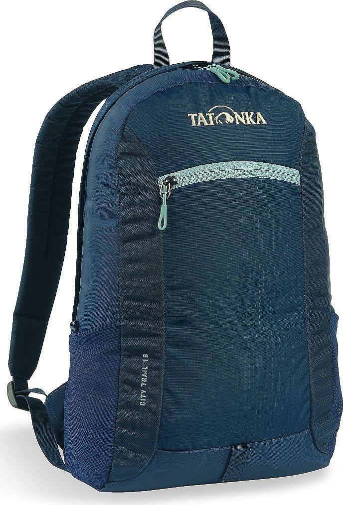 Рюкзак городской Tatonka City Trail, цвет: темно-синий, 16 лSVCB-RT6-E150City Trail 16 - аккуратный и удобный рюкзак для города, оснащен боковыми сетчатыми карманами и центральным карманом на молнии, держателем для ключей.
