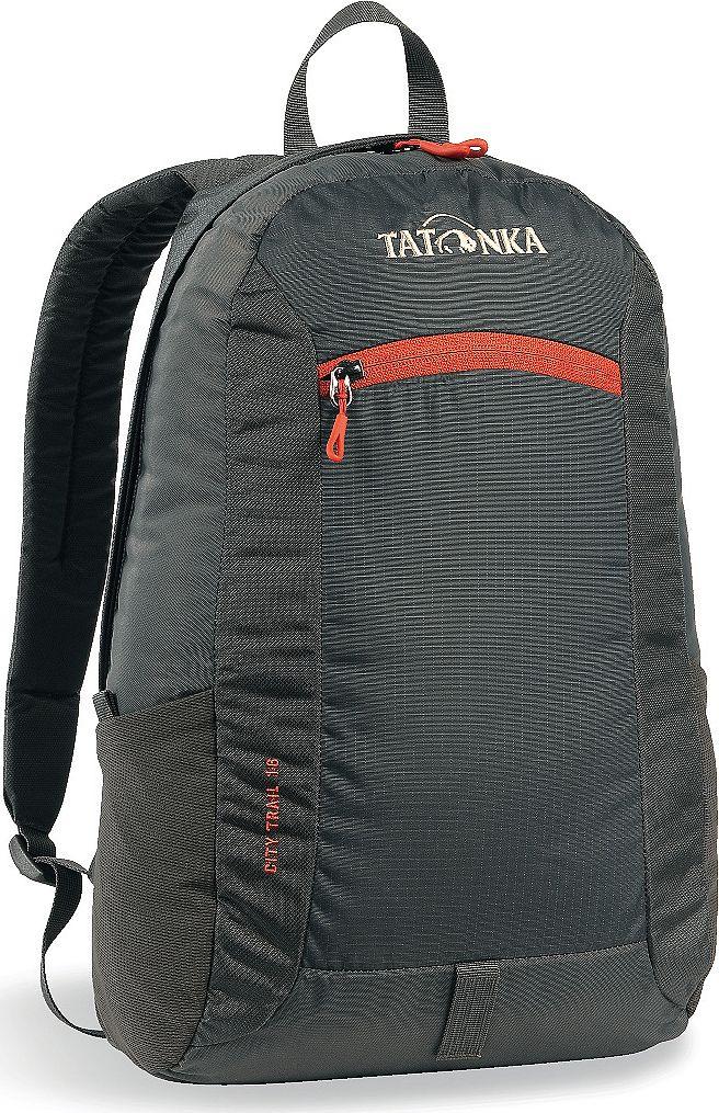 Рюкзак городской Tatonka City Trail, цвет: темно-серый, 16 лЛЦ0046City Trail 16 - аккуратный и удобный рюкзак для города, оснащен боковыми сетчатыми карманами и центральным карманом на молнии, держателем для ключей.