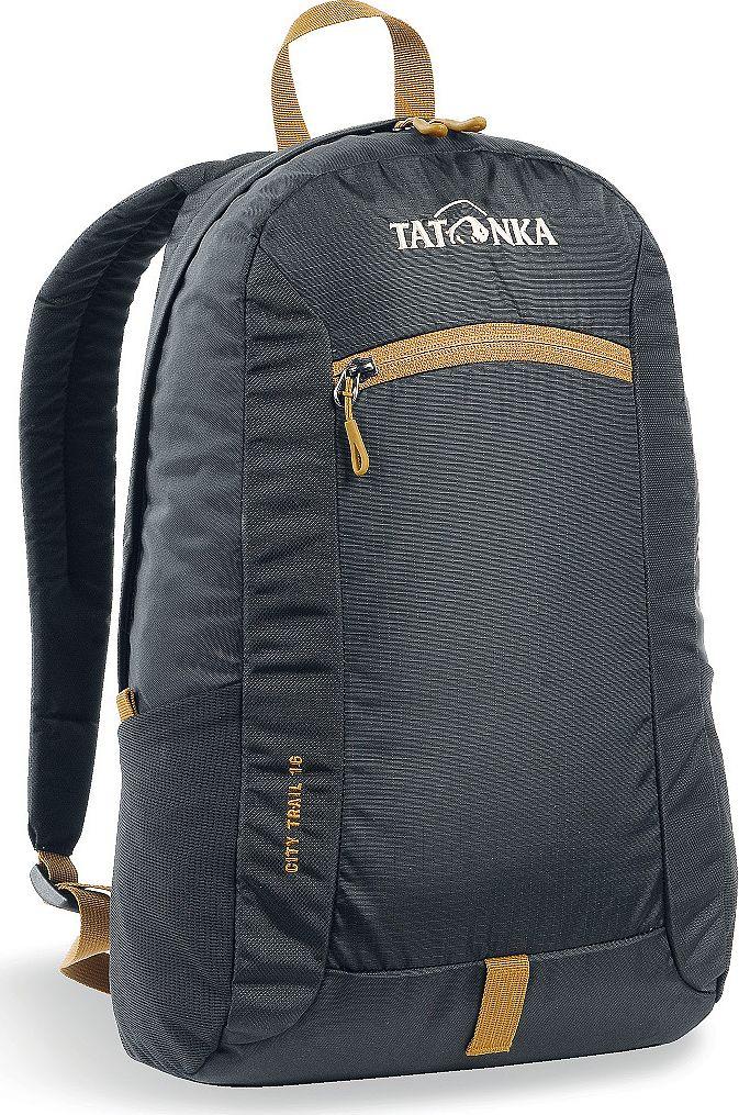 Рюкзак городской Tatonka City Trail, цвет: черный, 16 лSVCB-RT6-E150City Trail 16 - аккуратный и удобный рюкзак для города, оснащен боковыми сетчатыми карманами и центральным карманом на молнии, держателем для ключей.